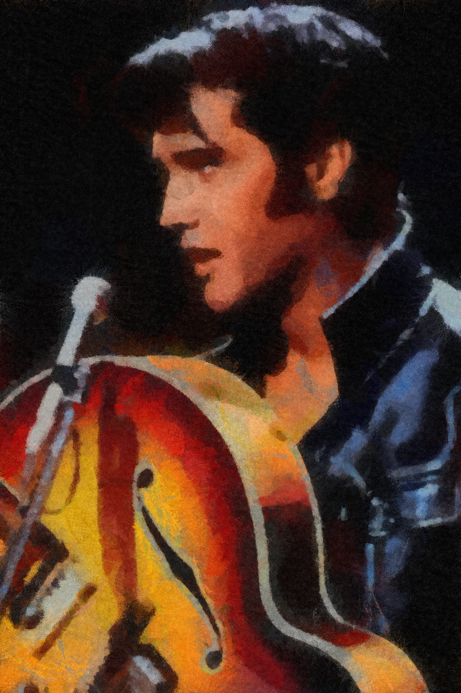 BLACK VELVET PAINTING, A Sad VELVET ELVIS Crying a Tear items in