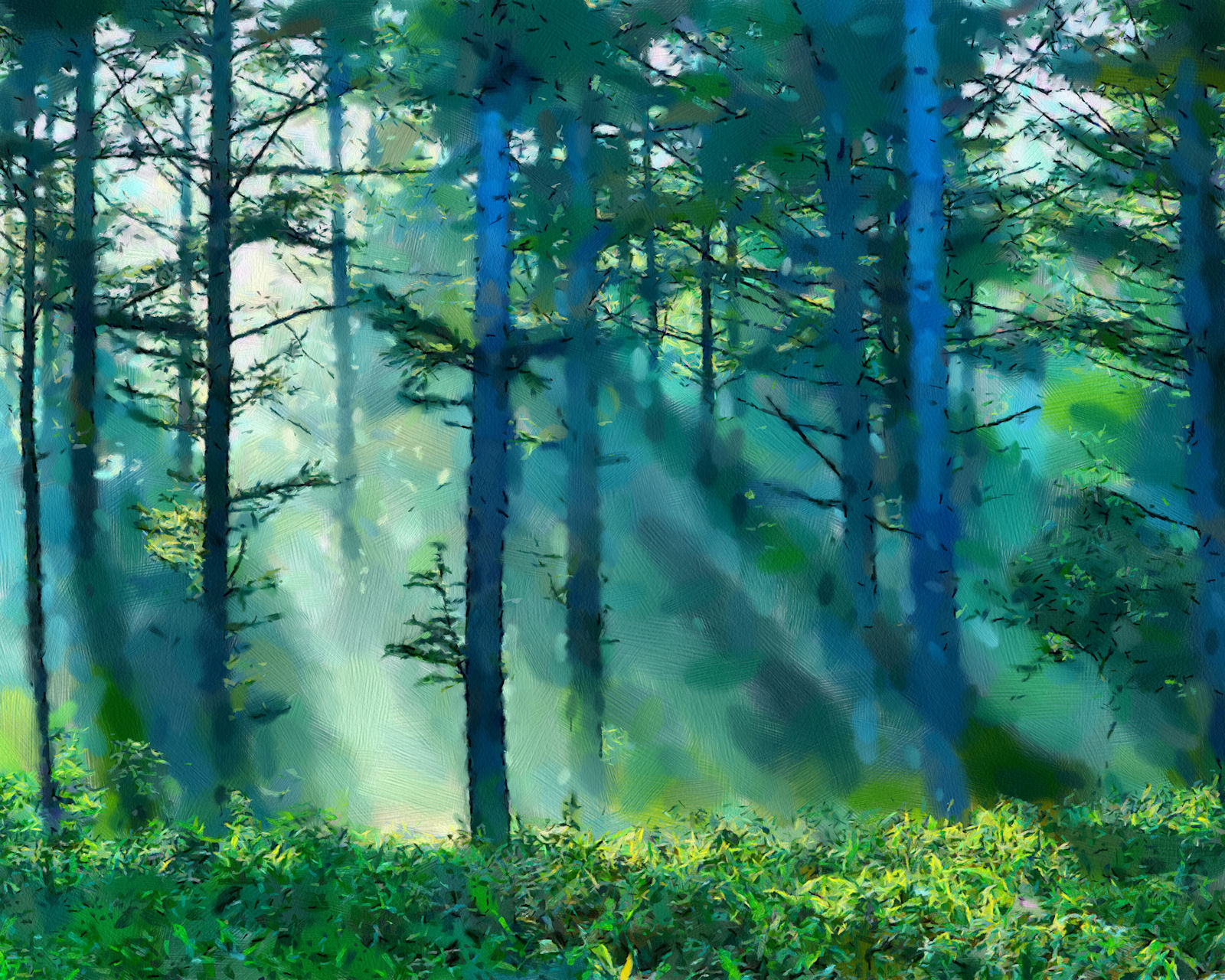 Famous Forest Paintings Painting misty landscapesFamous Forest Paintings