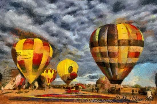 BalloonsFunkyColoredPencils